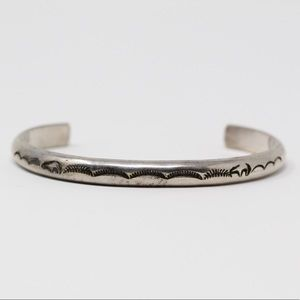 Jewelry - NAVAJO Sterling Silver Stamped Cuff Bracelet 6.5